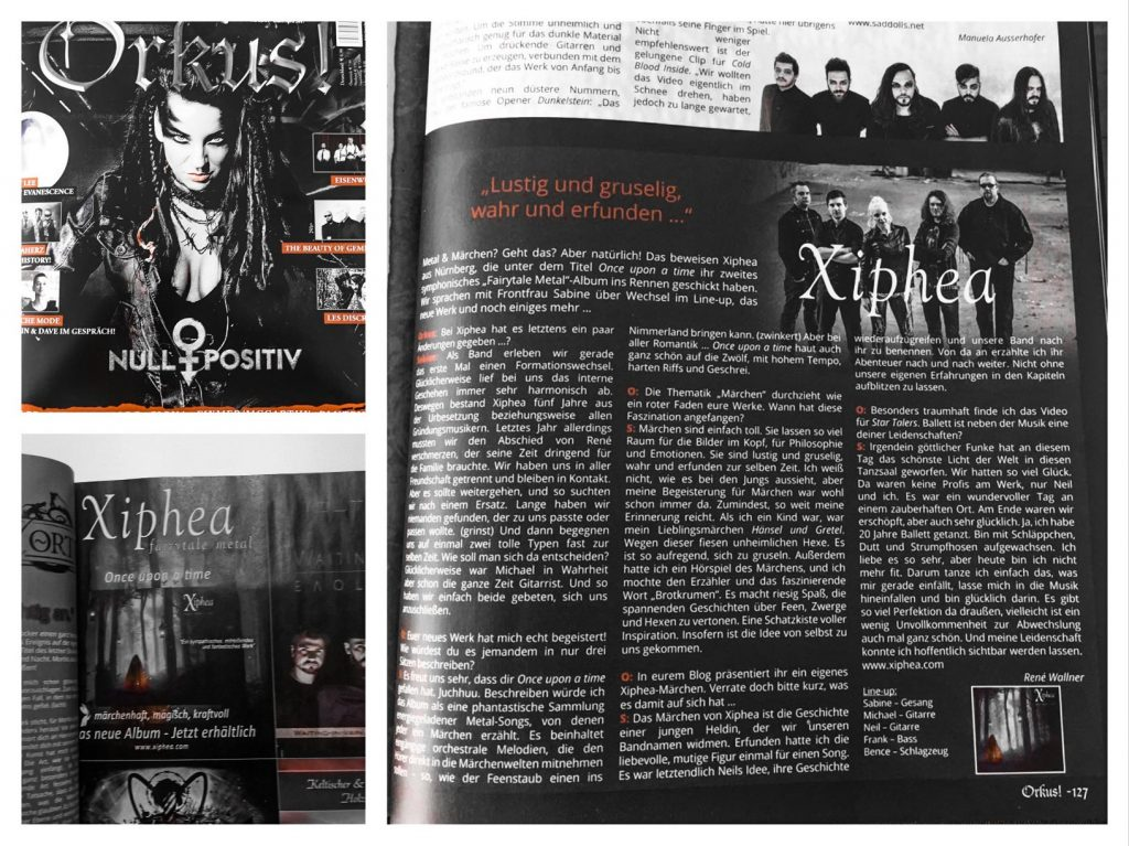 orkus magazin xiphea interview