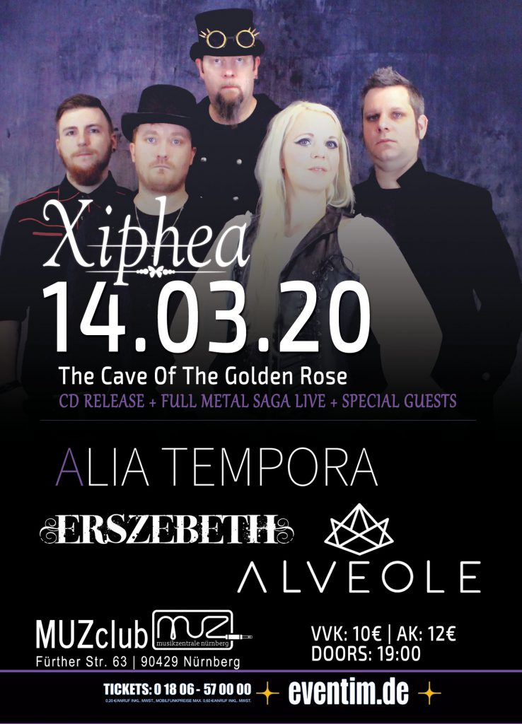 Xiphea - The Cave Of The Golden Rose CD Release